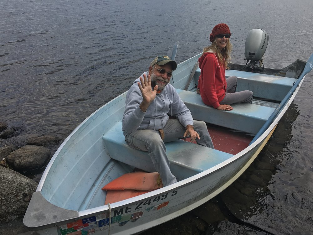 Joel Schechter and Donna Davidge on Mattawamkeag Lake