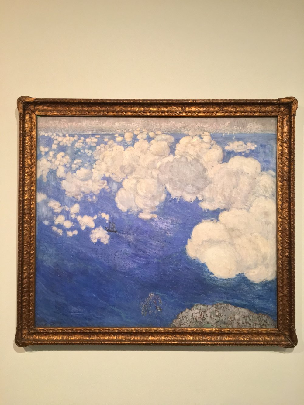 """Clouds Over the Black Sea--Crimea"" (1906) by Boris Anisfeld at the Brooklyn Museum"