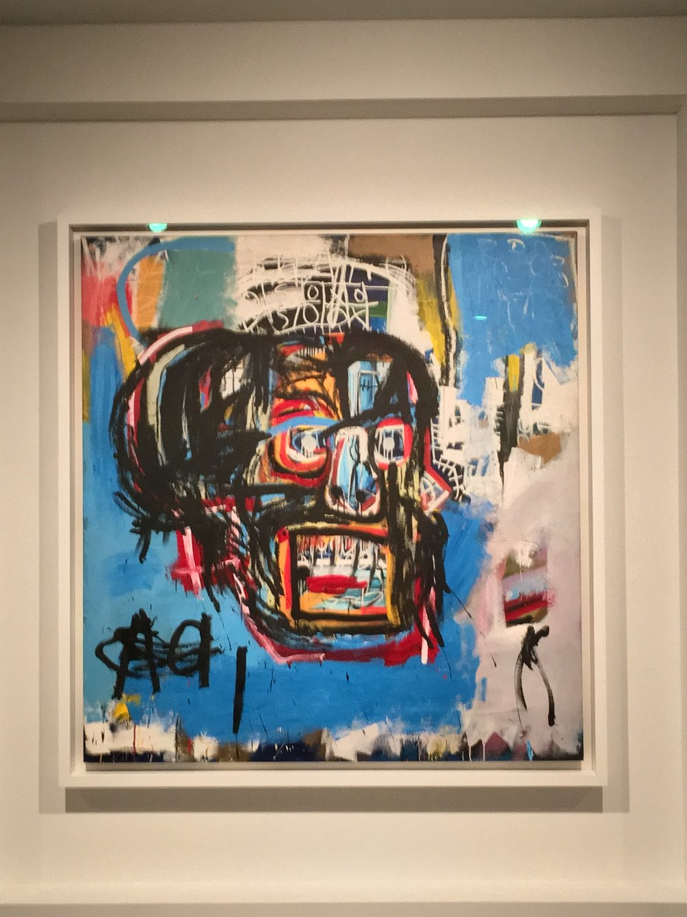 """One Basquiat"" (1982) by Jean-Michel Basquiat at the Brooklyn Museum"