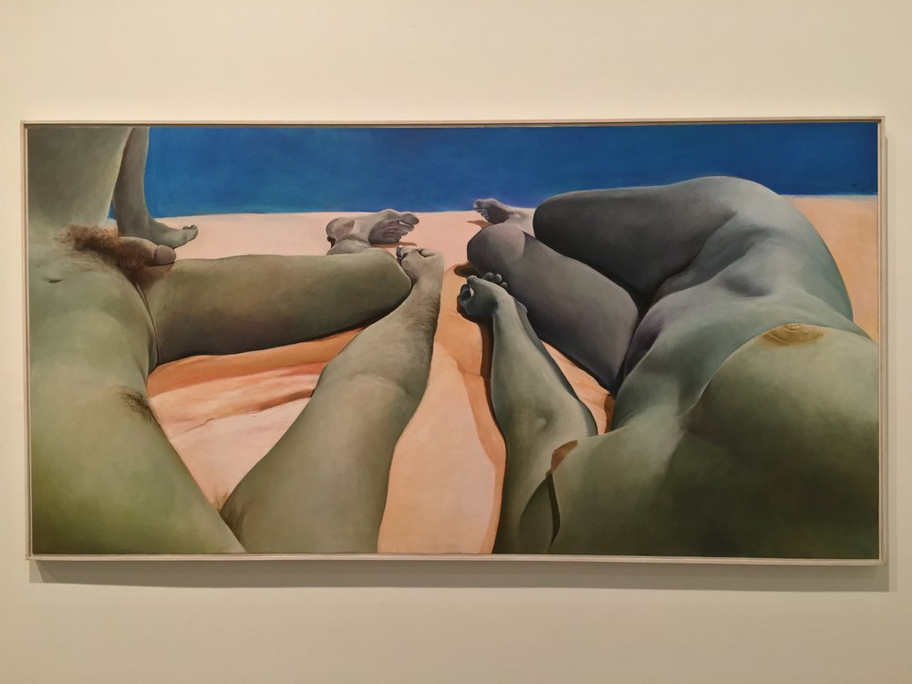 """""""Intimacy-Autonomy"""" (1974) by Joan Semmel at the Brooklyn Museum"""