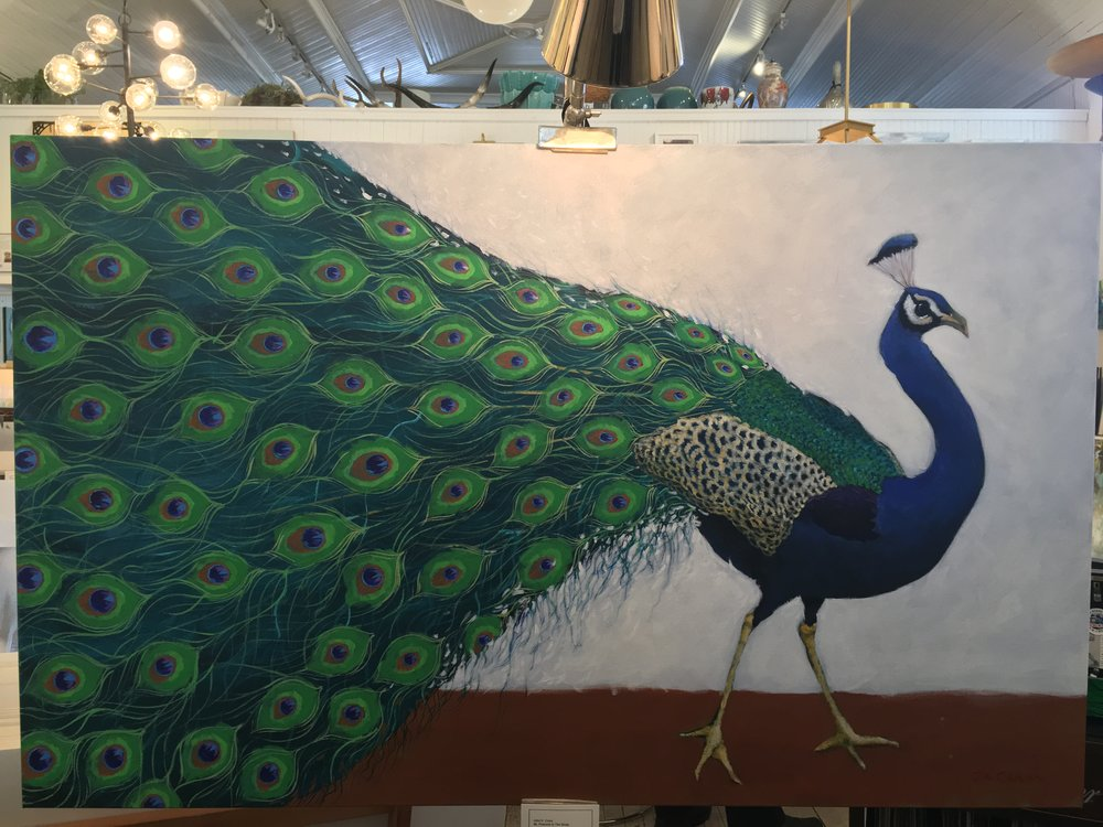 """Mr. Peacock In The Study"" by John K. Crum at Mitchell Hill Gallery, Charleston"