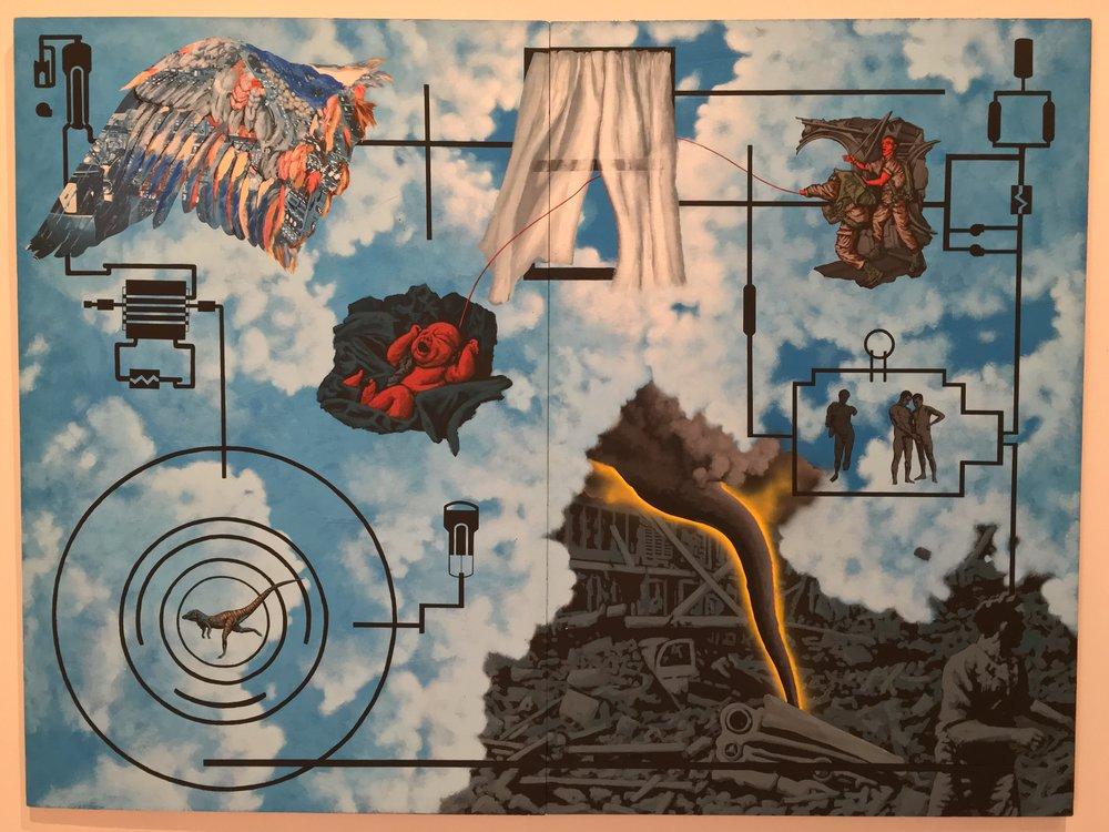 """Wind (For Peter Hujar)"" (1987) by David Wojnarowicz at The Whitney, NYC"