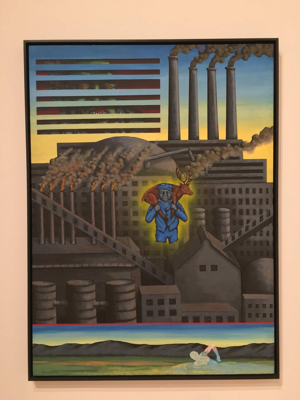 """""""A Worker"""" (1986) by David Wojnarowicz at The Whitney, NYC"""