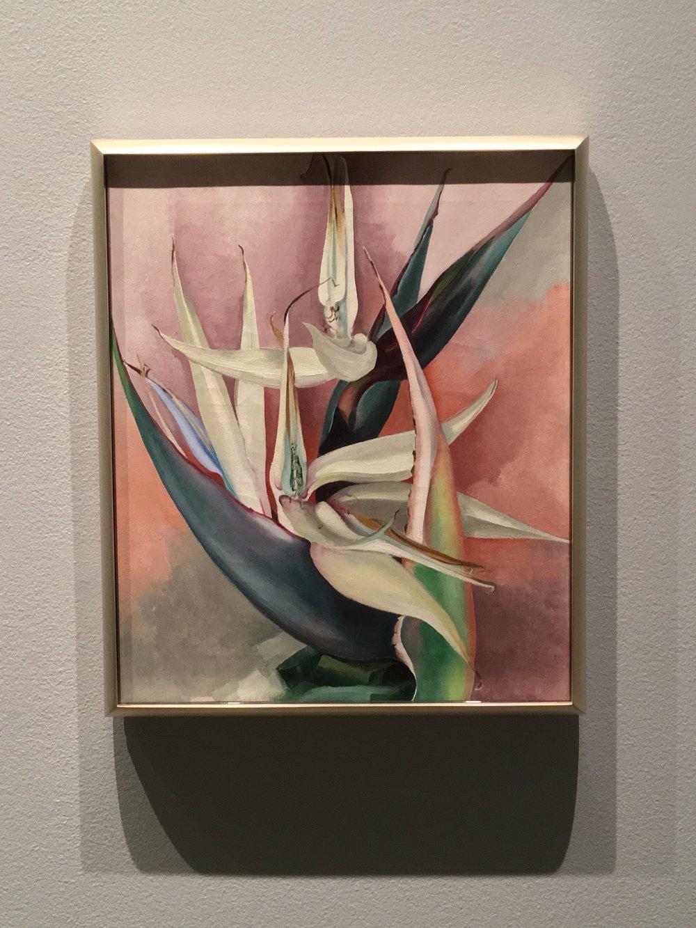 """White Bird of Paradise"" (1939) by Georgia O'Keeffe at NYBG"
