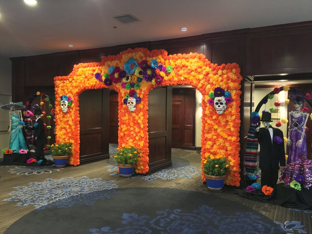 Day of the Dead decorations at Hilton Fort Worth, TX