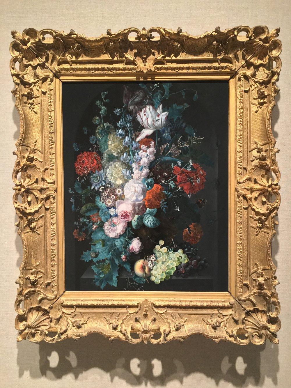 """""""A Vase of Flowers"""" (1716) by Margareta Haverman at the MET, NYC"""