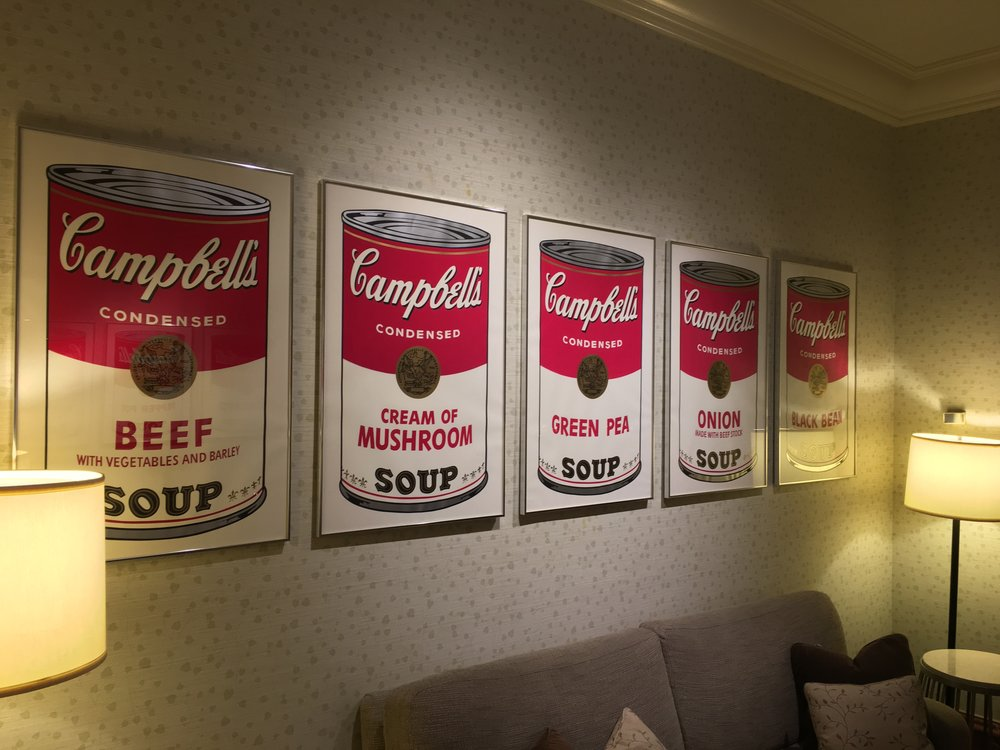 """Campbell's Soup"" by Andy Warhol at The Peninsula Hotel, NYC"