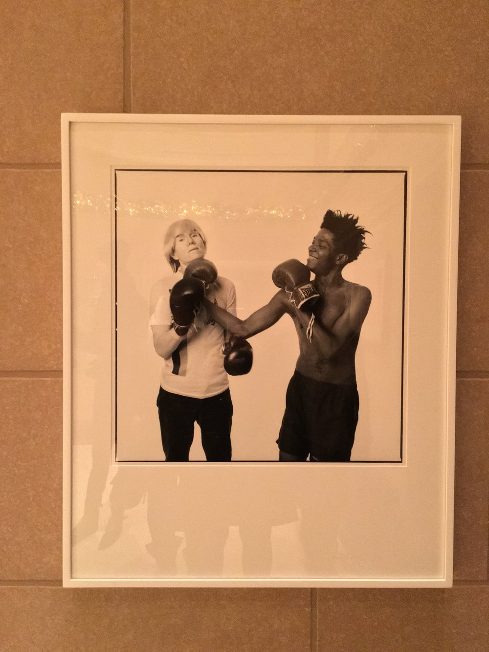 """Andy Warhol and Jean-Michel Basquiat"" by Michael Halsband at The Peninsula Hotel, NYC"