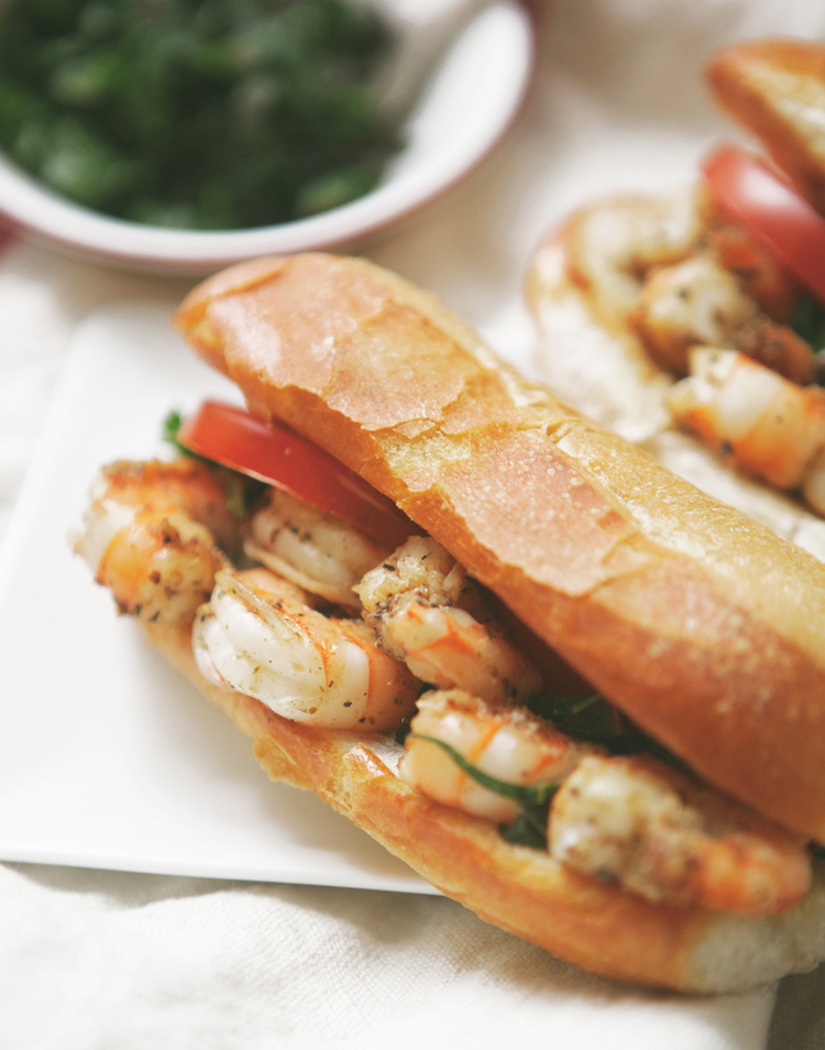 Sautéed Shrimp Po Boy with Chard Slaw + Old Bay Remoulade — a ...