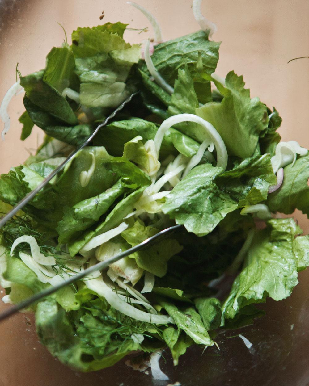 Salt Baked Fish with Fennel Escarole Salad + Caper Vinaigrette — a ...