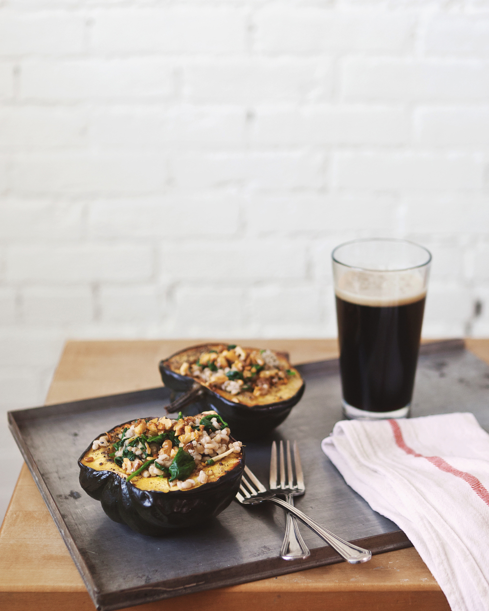 roasted acorn squash bowls with barley spinach salad_001.jpg