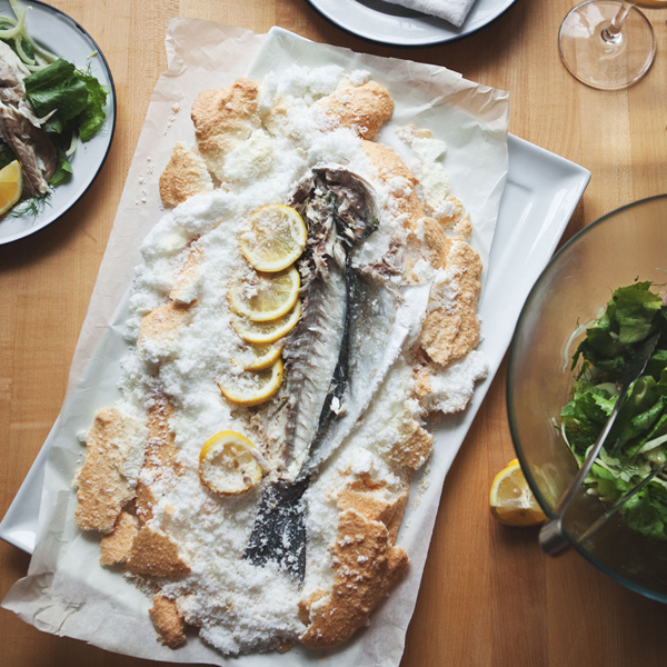 Salt Baked Fish + Fennel Salad