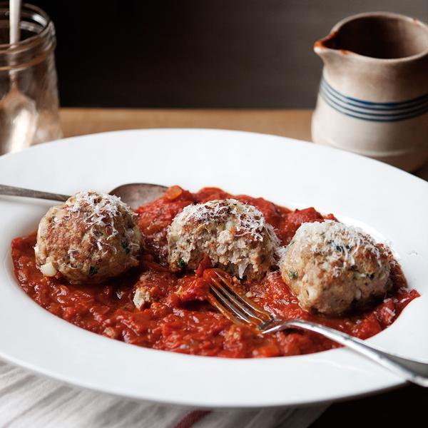Turkey Meatballs + Rustic Tomato Sauce