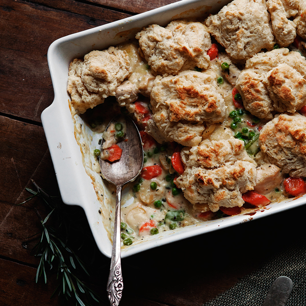 Classic Chicken Pie with Drop Biscuits