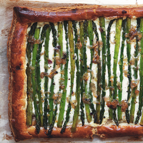 Honey Lemon Asparagus Tart
