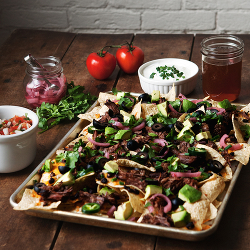Beer Braised Steak Nachos