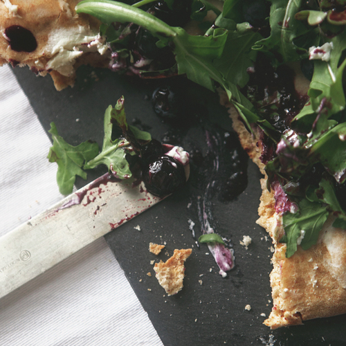 Blueberry Balsamic Goat Cheese Flatbread