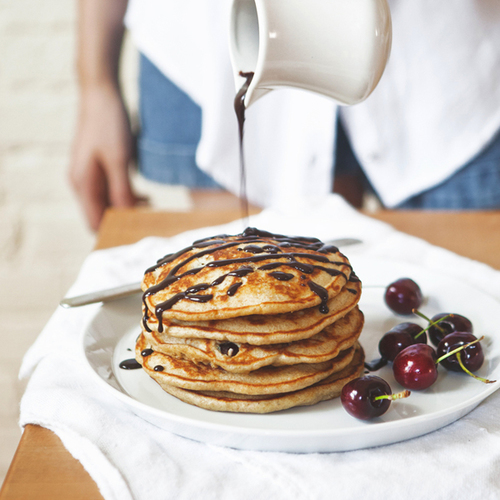 cherry buttermilk pancakes