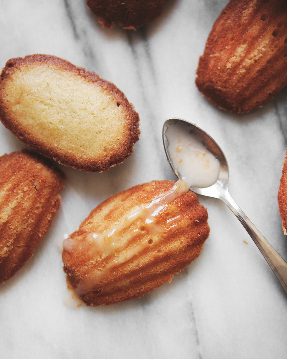 cake & cocktails: Honey Rose Madeleines with Grapefruit Drizzle, and ...