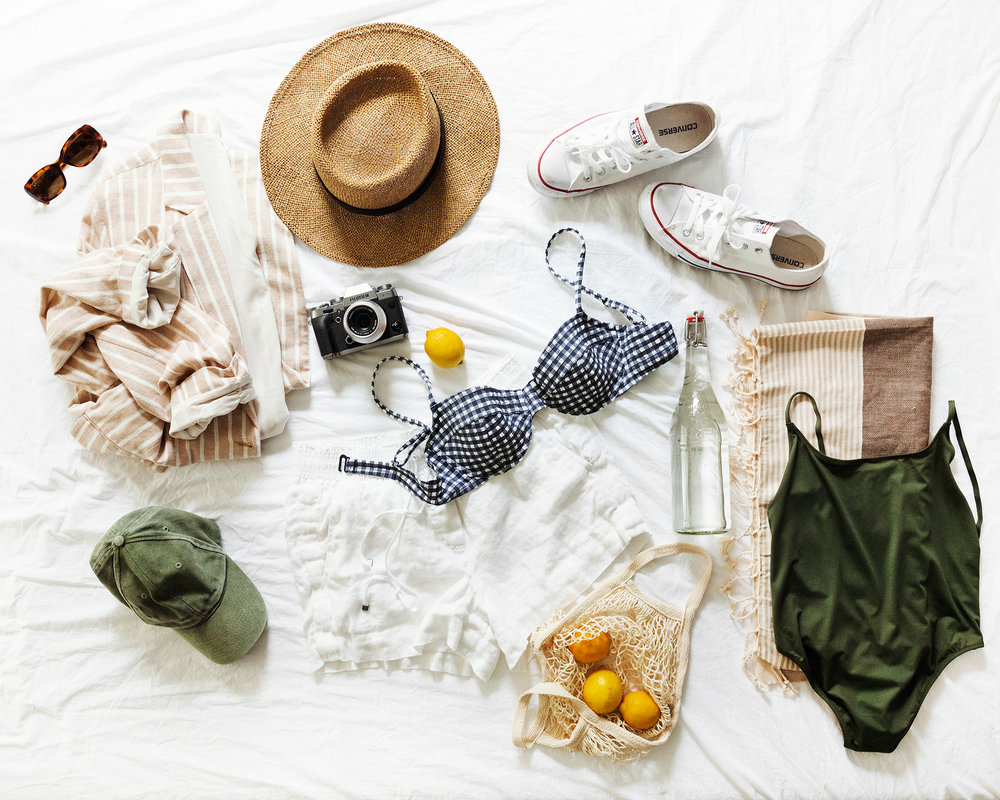 the summertime essentials for a week of