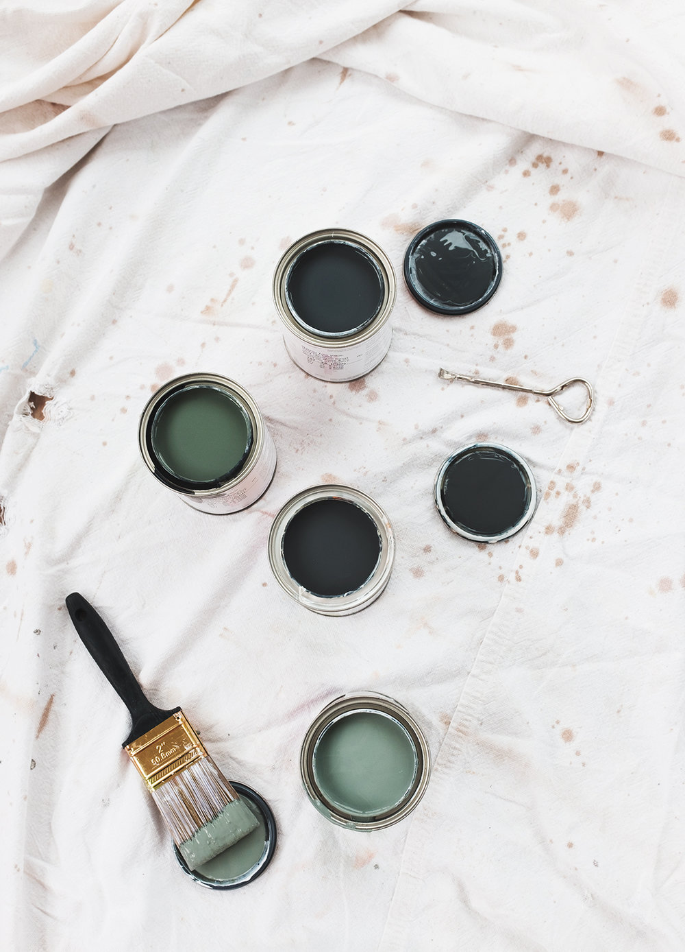 paint + progress - paint swatches that make the whole process a lot more fun