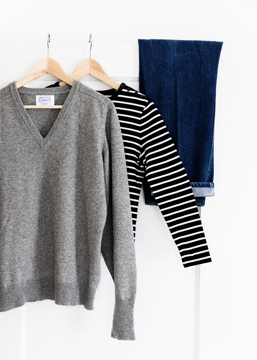stripes + denim -