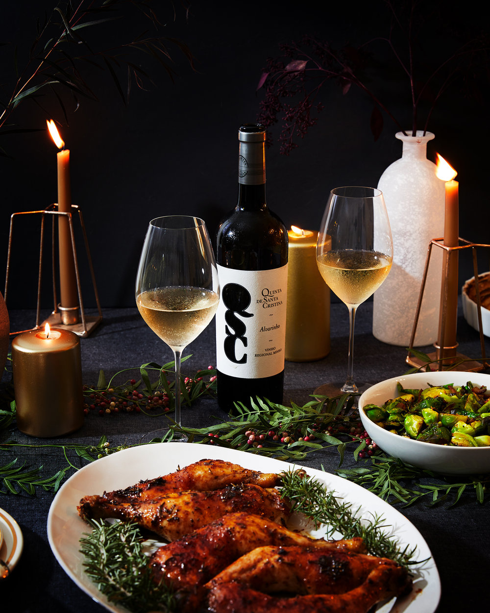 Family Style Holiday Meny + Vinho Verde Wine Pairing
