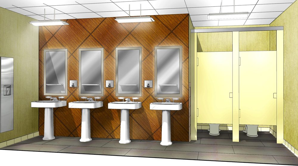 Men's Washroom - Proposed
