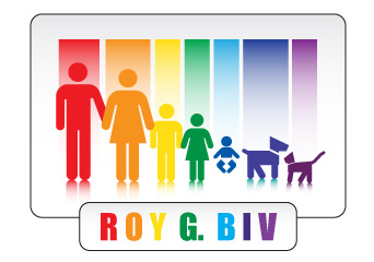Red Orange Yellow Green Blue Indigo Violiet = ROY G. BIV 's Family