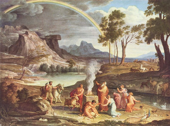 """Noah's Thank Offering"" (c.1803) by Joseph Anton Koch"