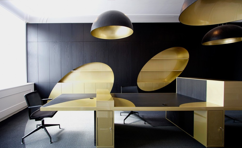 Black Amp Gold Office James Bond 007 Style Spaces