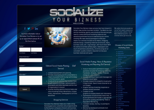Socialize your Bizness website
