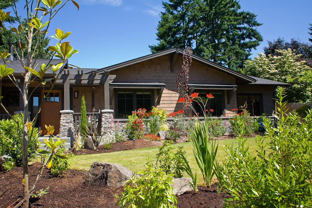 Mercer island landscape paul moon design residential for Craftsman style garden designs