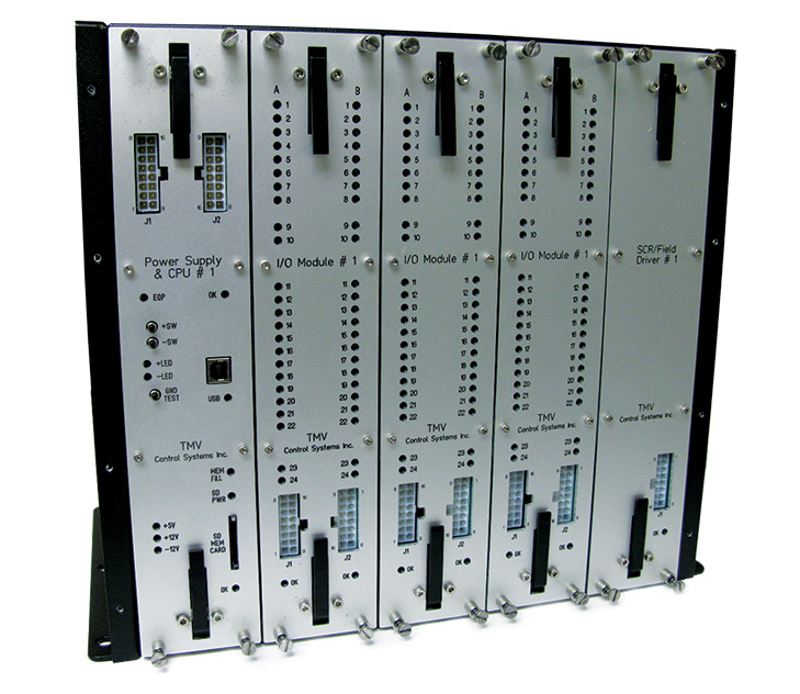 The TMV TECU system is approximately 1/4th the size of a Dash-II module rack.