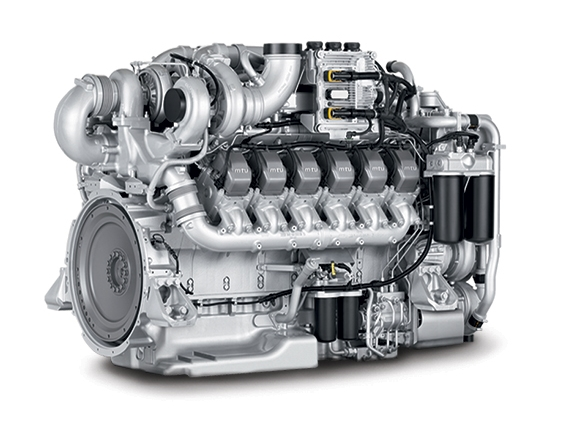 The Tier 4 Final certified 12V Series 1600 MTU engine.