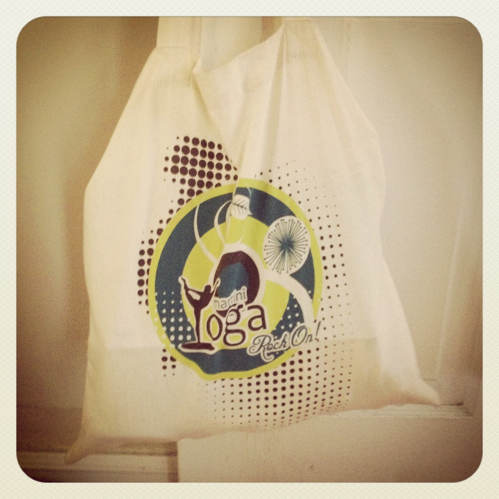 Martini Yoga tote bags are $15 and all proceeds go to the elephants.