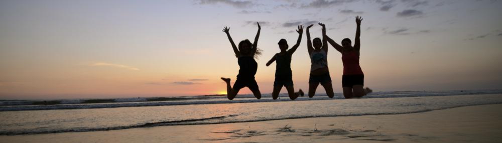 Martini Yoga Costa Rica Retreat 2013. Sunset at Playa Guiones, Nosara