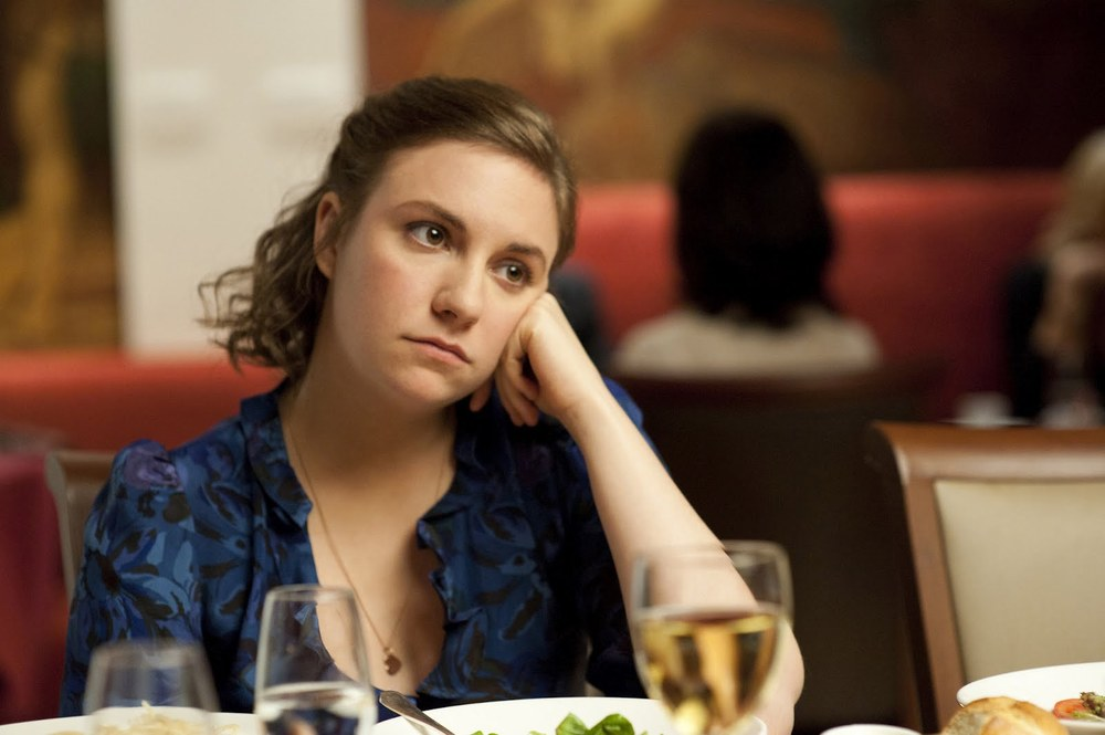 Ballad of big nothing: Hannah Horvath (Lena Dunham) gets cut off from her parents' novel/internship funding