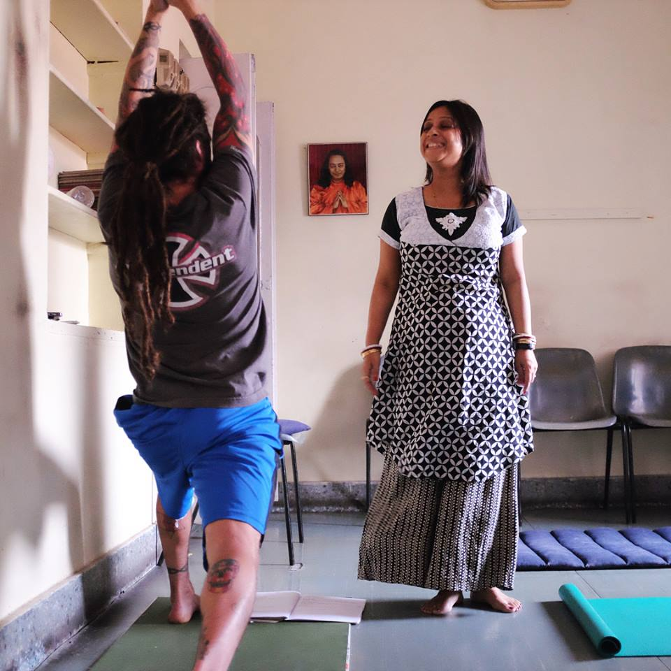 Ghosh yoga practice with Muktamala Mitra
