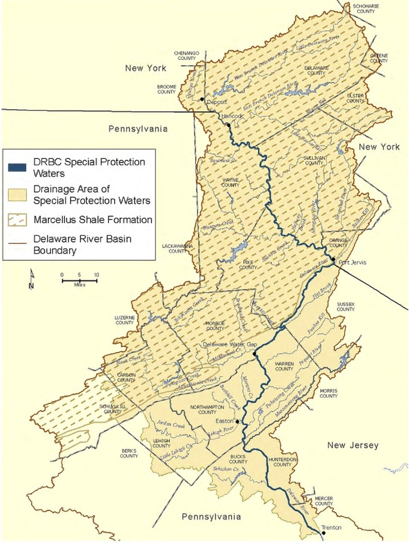 DRBC Special Waters/Marcellus Shale Map