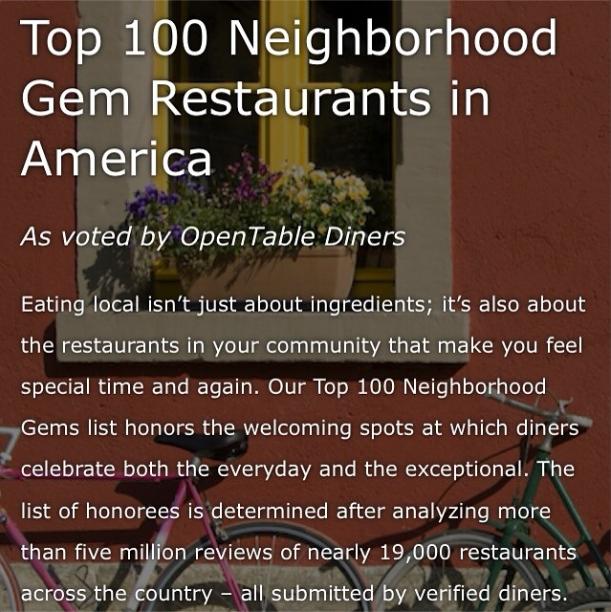Top 100 Neighborhood Gems