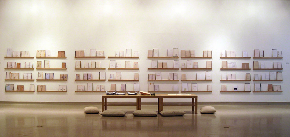 Borrowed: Mystery, Romance and Knowledge, size variable, mixed media, 2009-present.