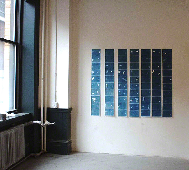 Did You Realize That You Left This Behind?, solar print installation, 5 ft. x 4 ft. 2004