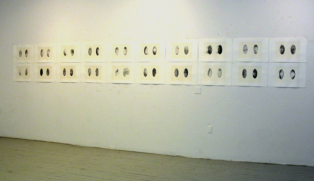 Trip/Hip , mixed media, 20 ft. x 3 ft., 2004