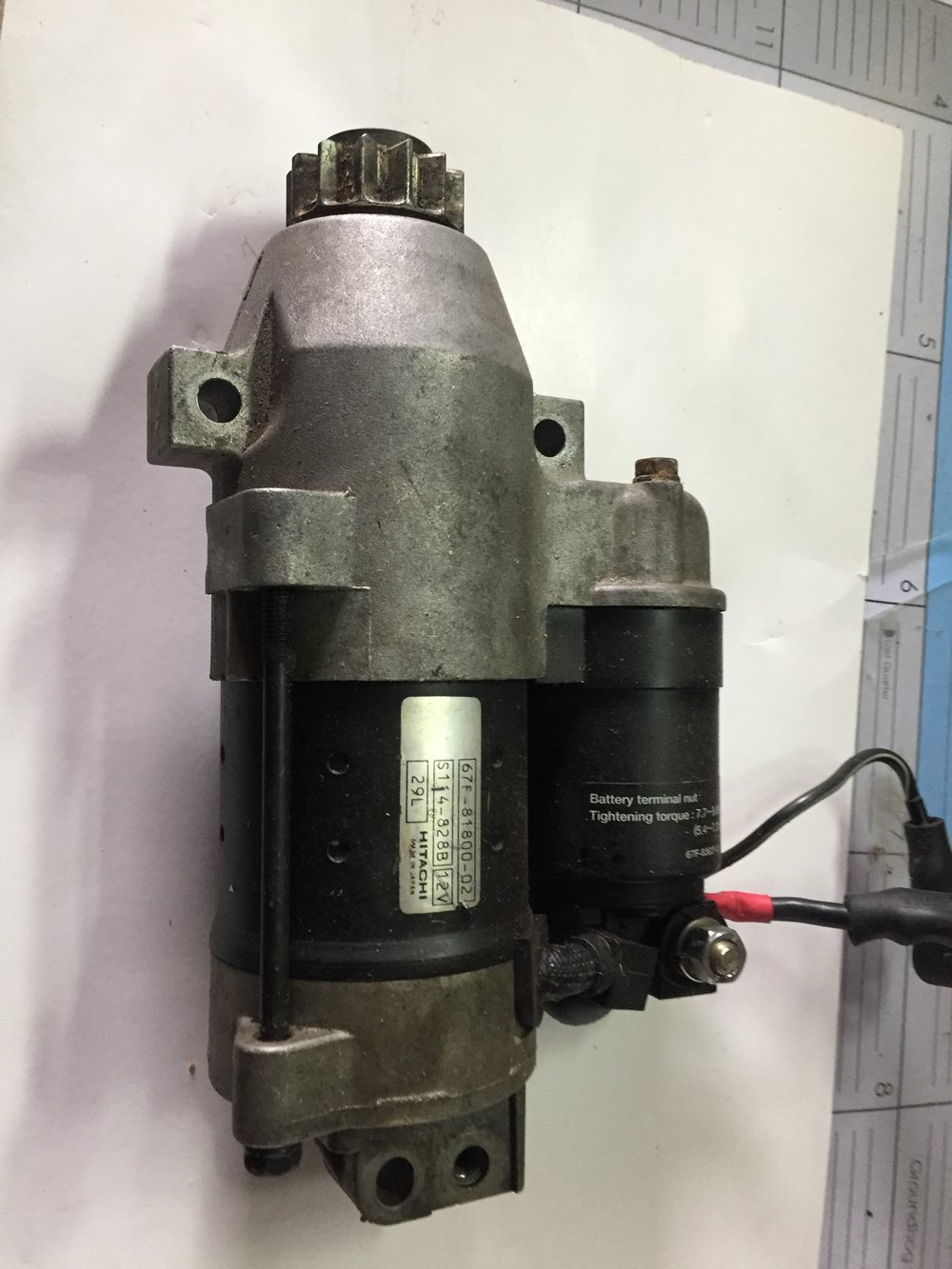 Yamaha Four Stroke Starter - Part number: 67f-81800-02Hitachi S114-828BWorks great, Off yamaha F115, F100$199.00
