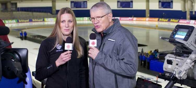 Canadian Broadcasting Corporation Kristina Groves CBC Sports Colour Analyst Television Sports Broadcaster Speed Skating.jpg