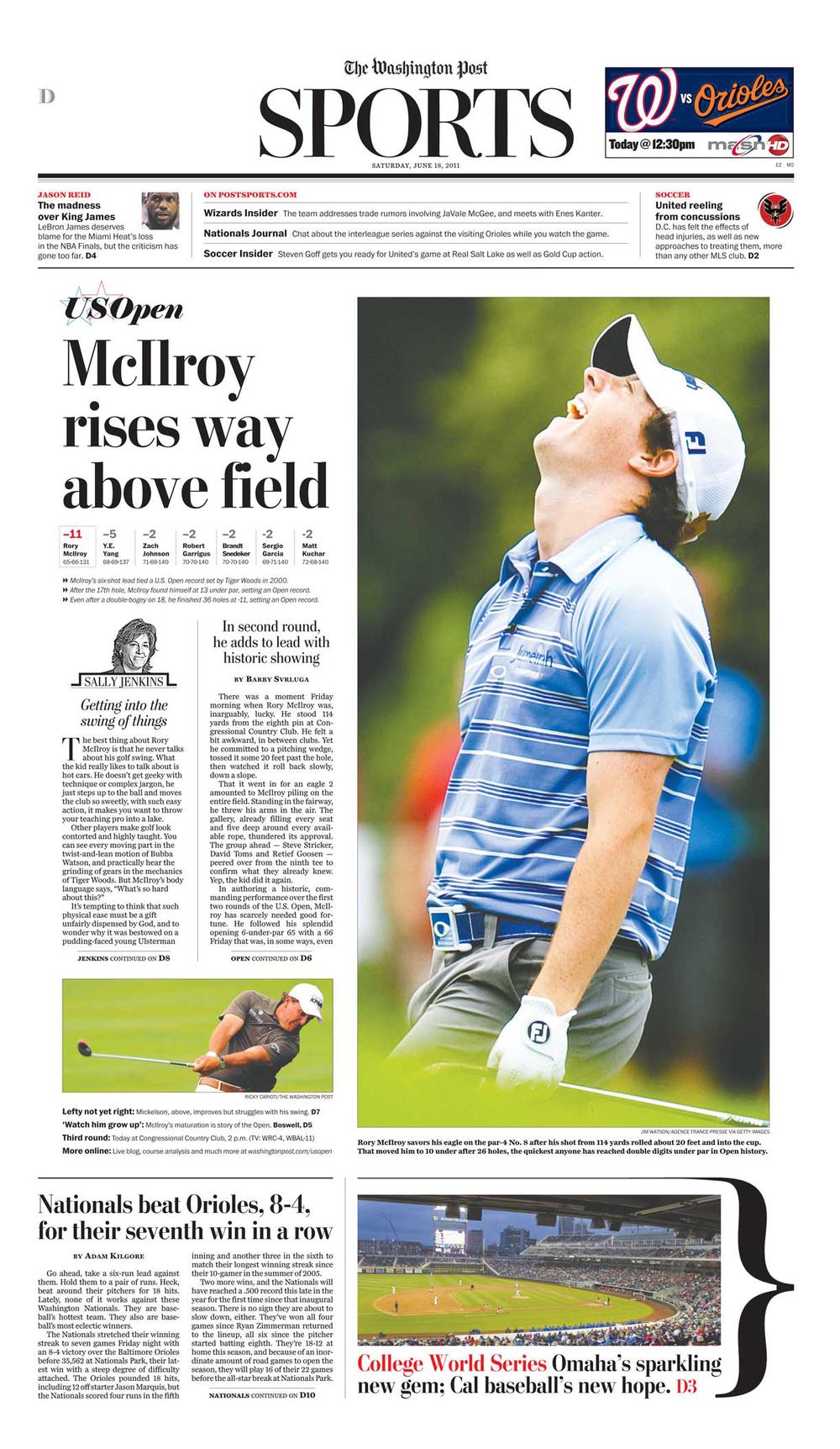 US Open: McIlroy Rises
