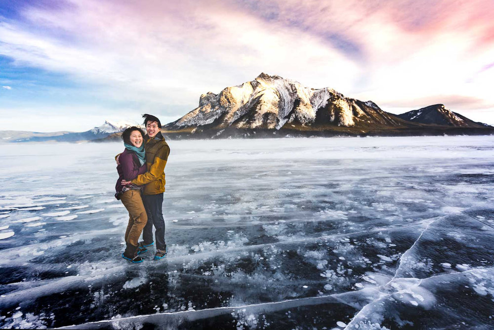 Lake Abraham Engagement