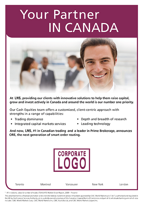 Sample Corporate Magazine Ad