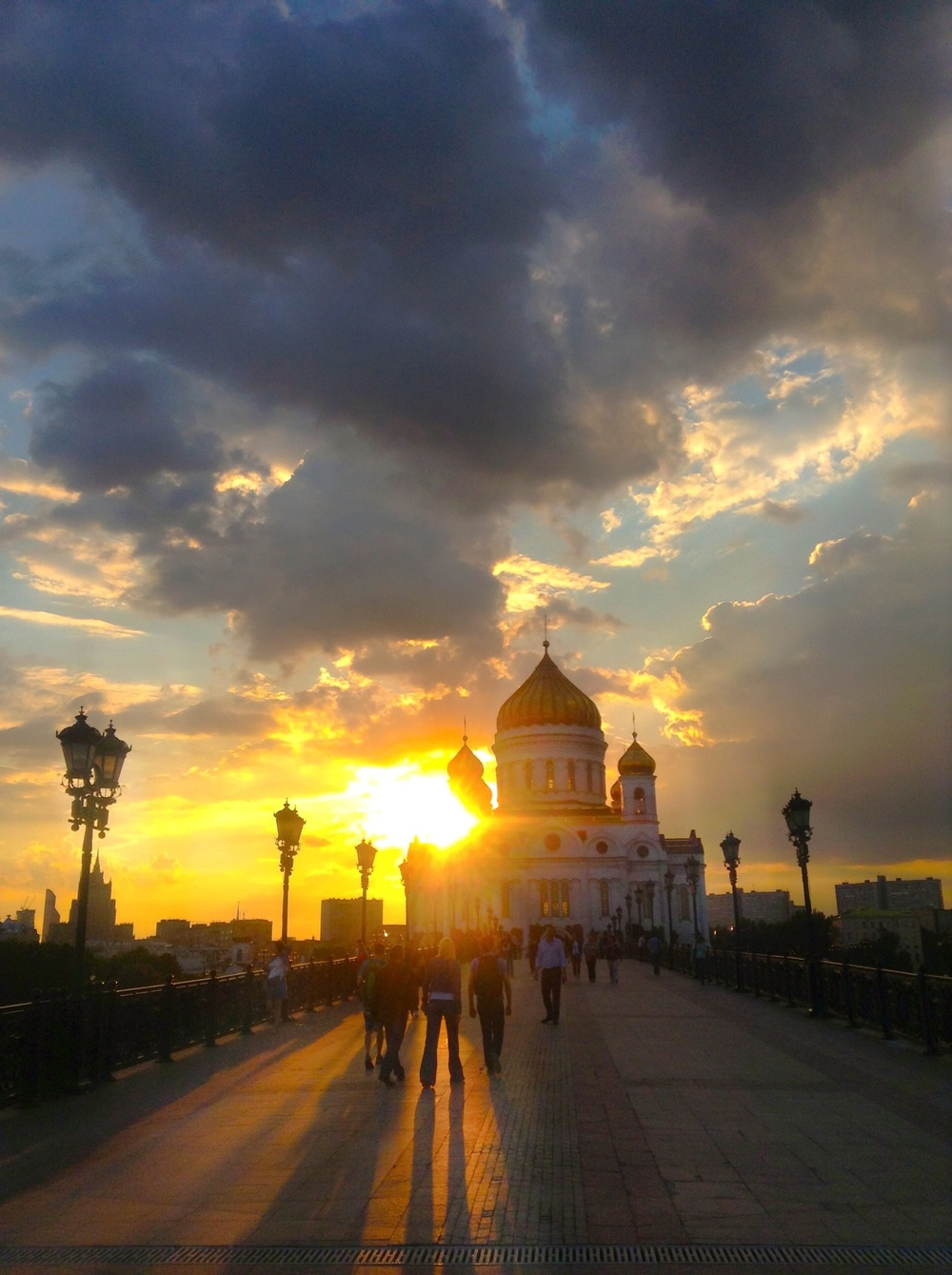 The Church of Christ the Savior in Moscow at sunset  (mobile).